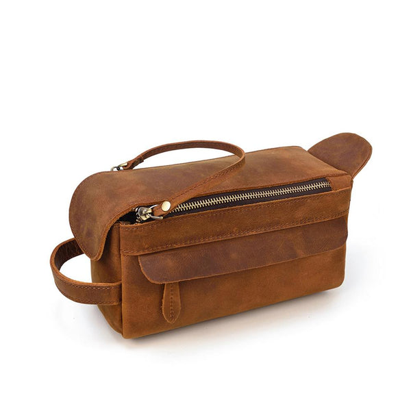 Leather Toilet Bag <br /> KATMANDOU