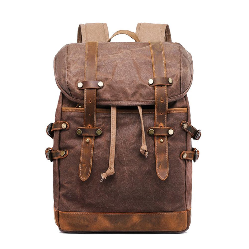 vintage style laptop backpack