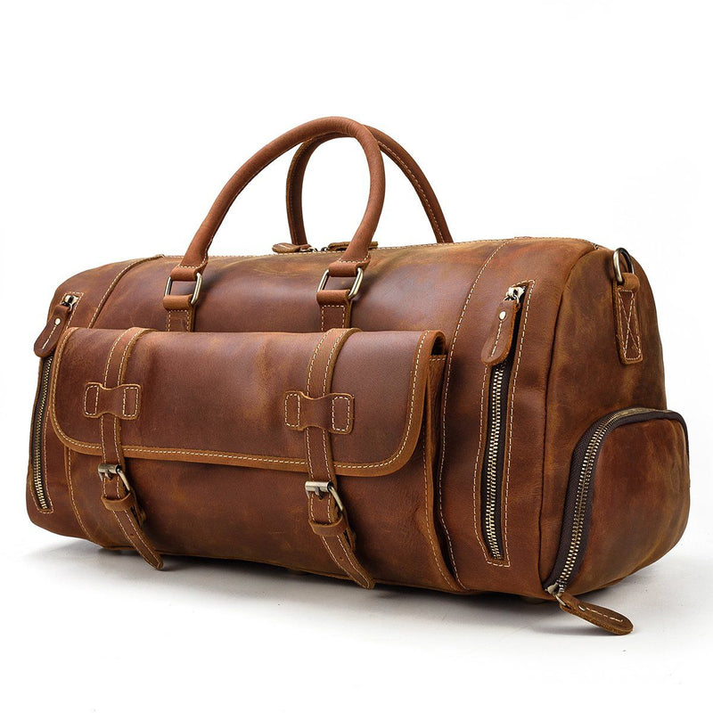 weekend duffle bag mens leather