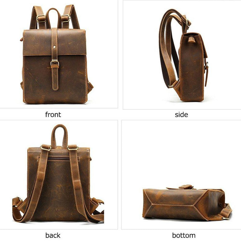 women tan leather rucksack