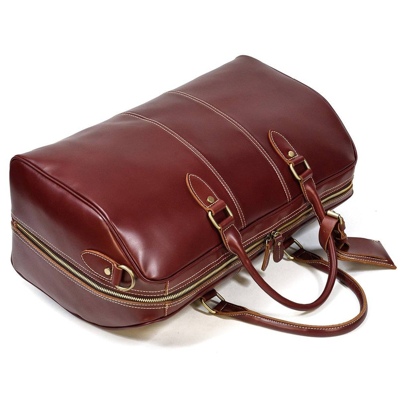 women's leather weekend bag