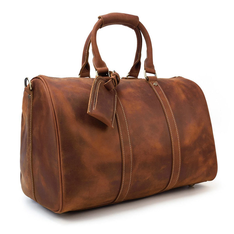 womens leather duffle bag