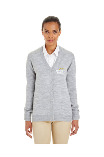 Ladies Cardigan V-Neck Button Sweater