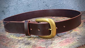 Custom sized English Bridle Belt