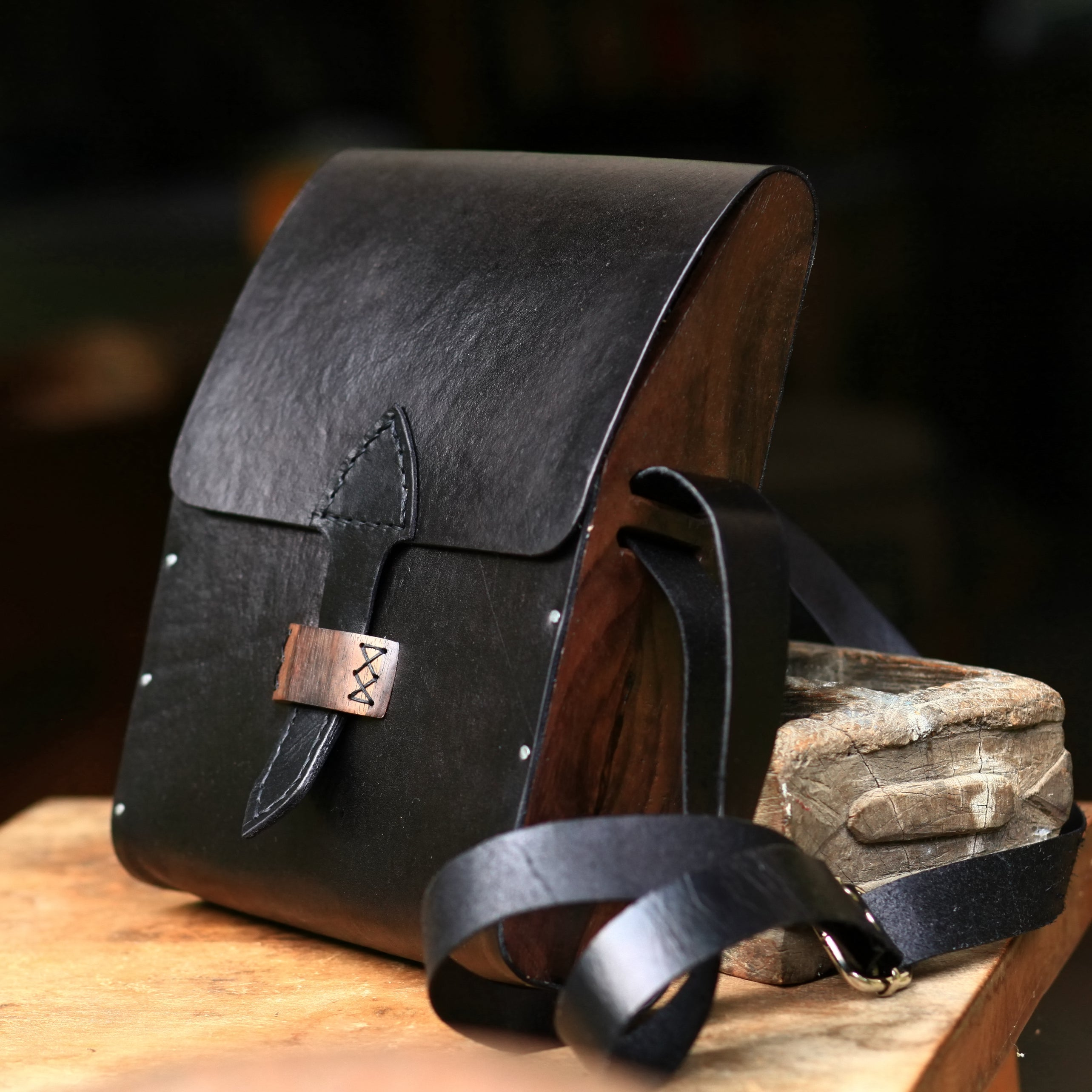 The Java Series - Rosewood-Vegtan Satchel