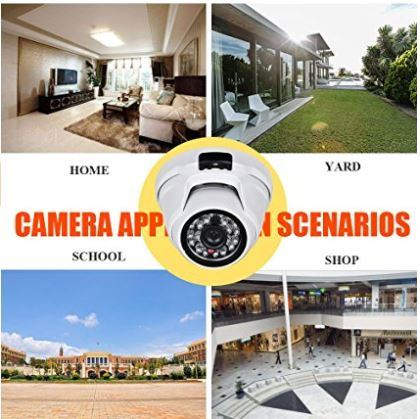 2.4MP (HD-TVI / AHD / CVI / Analog) 4-in-1 1080P CMOS Outdoor Metal Dome Camera, Day Night Vision Security IR Analog Camera, Vandalproof Dome Camera for Home Video Surveillance