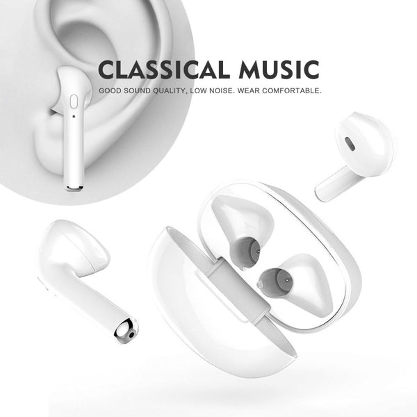 Bluetooth Headphones, Wireless headphones Bluetooth 4.1 Earbuds Sport Stereo Headset, Noise Cancelling Sweat Proof Earphones Fit for iPhone X/8/7/6/6s plus Samsung Galaxy S9, S9 Plus,S8 (White)