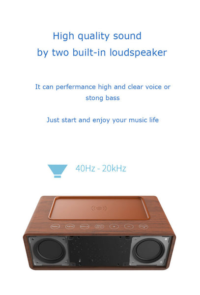 Bluetooth Speaker Intelligent and High Quality Wireless Speaker With Wireless Charger and Alarm Function