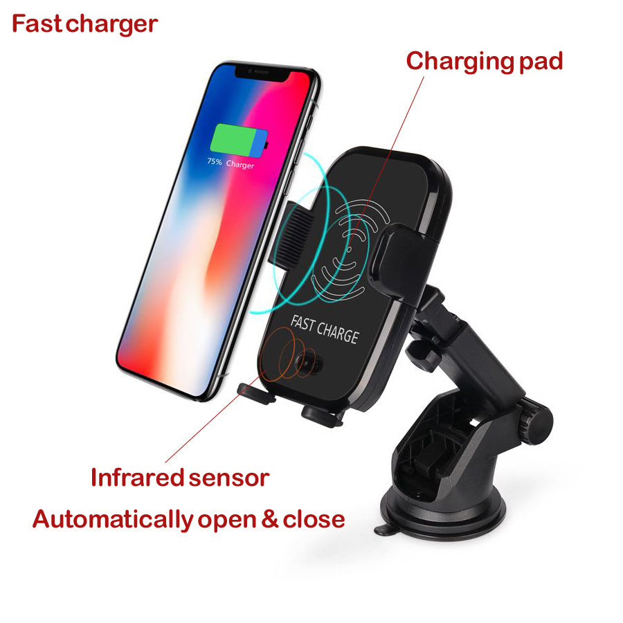 Fast Wireless Mobile Phone Charger for Both Desktop and Car Using With Infrared Sensor