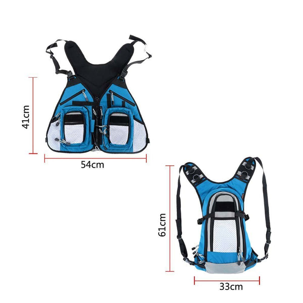 Fly Fishing Backpack and Vest Combo Waterproof Pack Bag - Multifunctional Fishing Tackle Sling Bag Adjustable