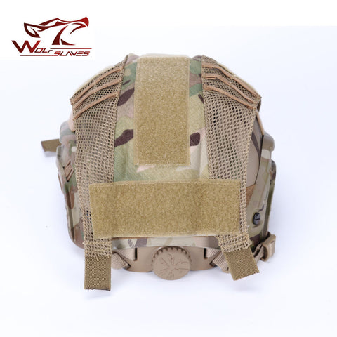 FMA Hunting Tactical Combat Paintball Air-soft Helmet Cover Durable Light Weight Half-Covered Helmet Cloth With Net Accessories