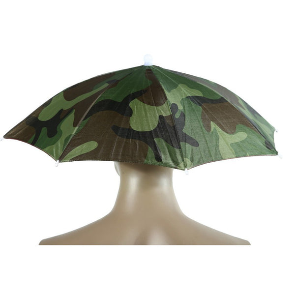 Foldable Fishing Hat Headwear Umbrella for Fishing Hiking Beach Cap Head Hats Outdoor Camping Equipment Rain Gear Umbrellas