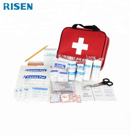HEALTHY SENDER, First Aid Kits (100 PCS) Suitable for Home, Office, Car, Mountain Climbing, Camping and Traveling