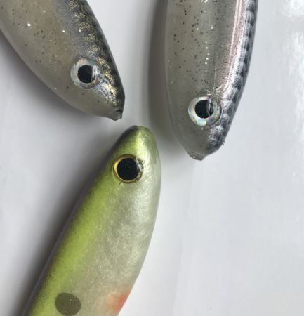 Hollow Body Swimbait 5.5 Inches Paddle Tail 3 Colors Mixed at Random Packed in Plastic Box by Dawson Outdoors