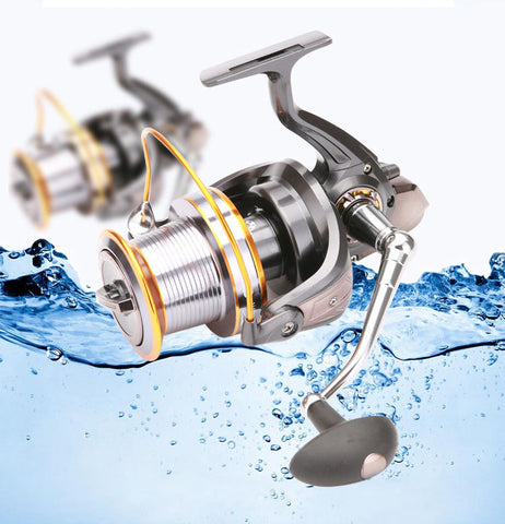 LJ9000 Size Full Metal Spool Jigging Trolling Long Shot Casting for Carp and Salt Water Surf Spinning Big Sea Fishing Reel