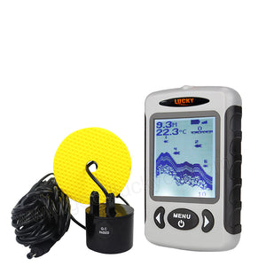 LUCKYLAKER Portable Fish Finder Sonar Sounder Alarm Transducer Fishfinder 0.7-80m Fishing Finder Fishing Tackle FF718