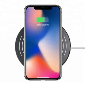 Manufacture Qi Quick Wireless Charger with LED Light for 5W/7.5W/10W,Black