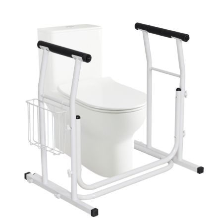 Medical Toilet Safety Rail Frame Bar Support Bathroom Stand Padded Armrest