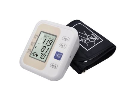 New Health Care Automatic Arm Digital Blood Pressure Monitor Tonometer Meter and Measuring Heathbeat and Pulse Rate