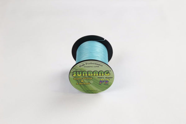 SUNBANG Abrasion Resistant 4 Strand Braided Fishing Line 100M Light Blue