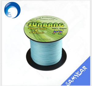 SUNBANG Abrasion Resistant 4 Strand Braided Fishing Line 300m Light Blue