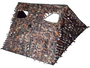 SUPERBHUNT Pop-Up Hunting Blind: 3D Leafy Portable Quick Setup Lightweight Blind Camouflage Oxford 38 inch H x 45 inch W
