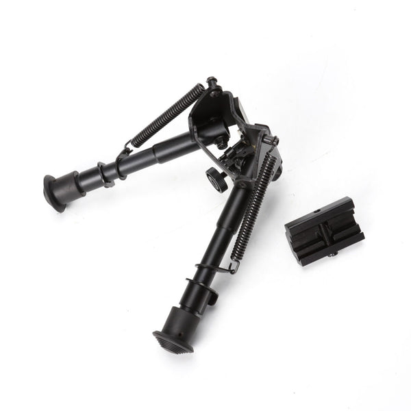 Tactical Airsoft M4 Gun Adjustable Outdoor Hunting Rifle 45 Degree Pivot Bipod Sling Swivel