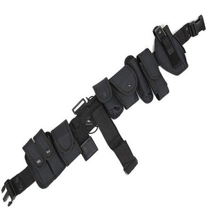 Tactical Pouch Security Military Guard Police Utility Kit Holster Utility Black Duty Belt AdjustsTen Sets