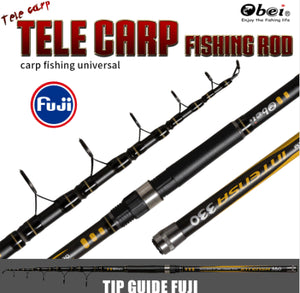 Tele Carp Fishing Rod Telescopic Portable Professional Ultra Light Expert Travel 3.3m 3.6m 3.25lbs Obei