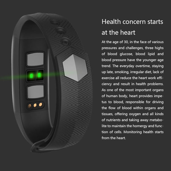 VO350 PPG +ECG Real-time Monitoring Blood Pressure Heart Rate Sport Smart Fitness Bracelet Watch Intelligent Activity Tracker