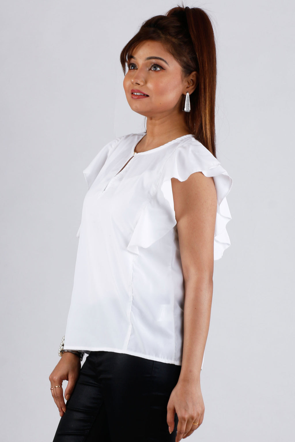 Womens Casual Ruffle Top - K1302P