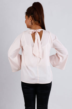 Womens Casual Bow Back Top - K1562HP