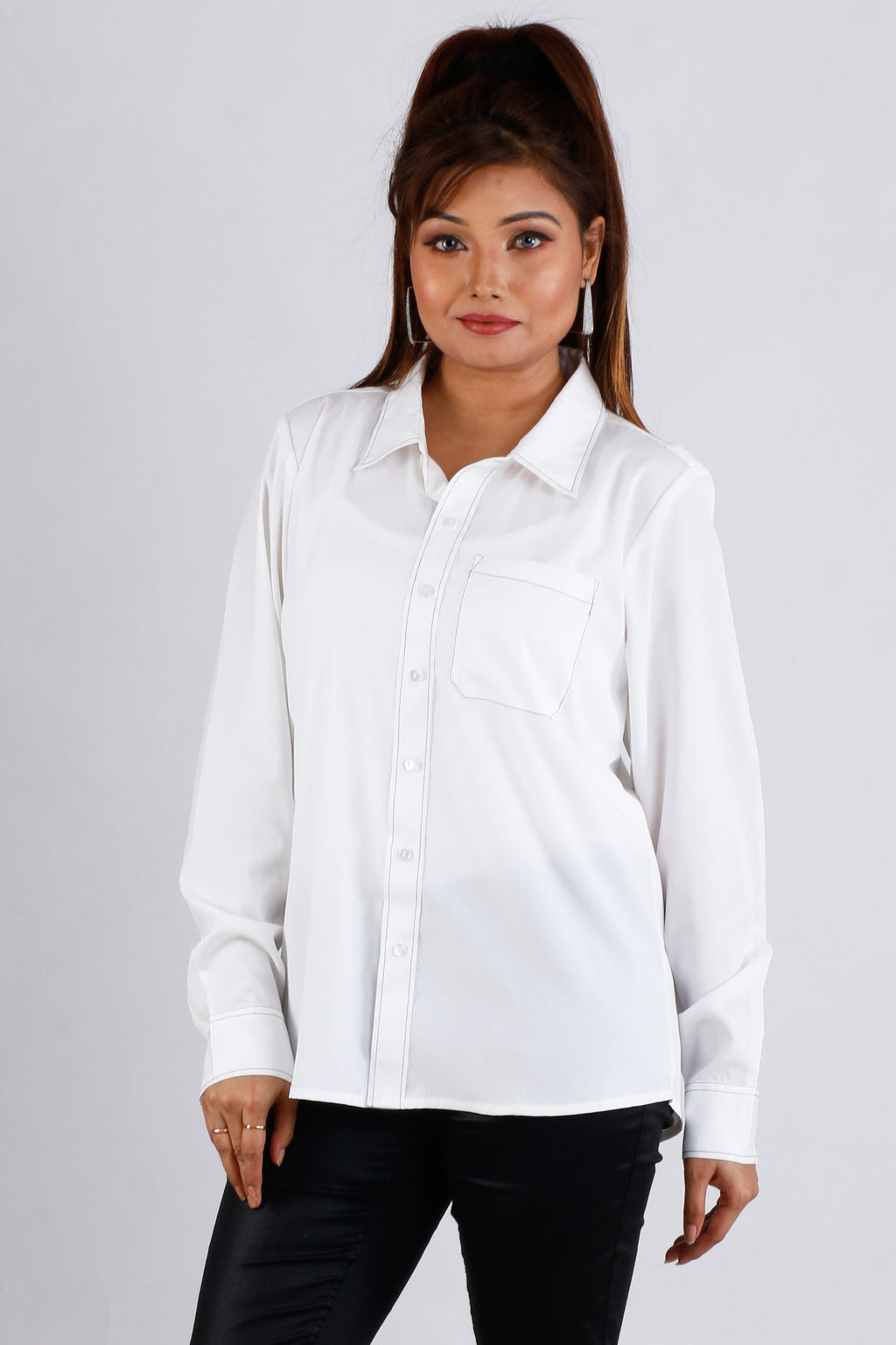 Womens Formal White Shirt - K1583W