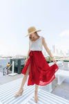 Women's Solid Colour Wrap Skirt -K1696R