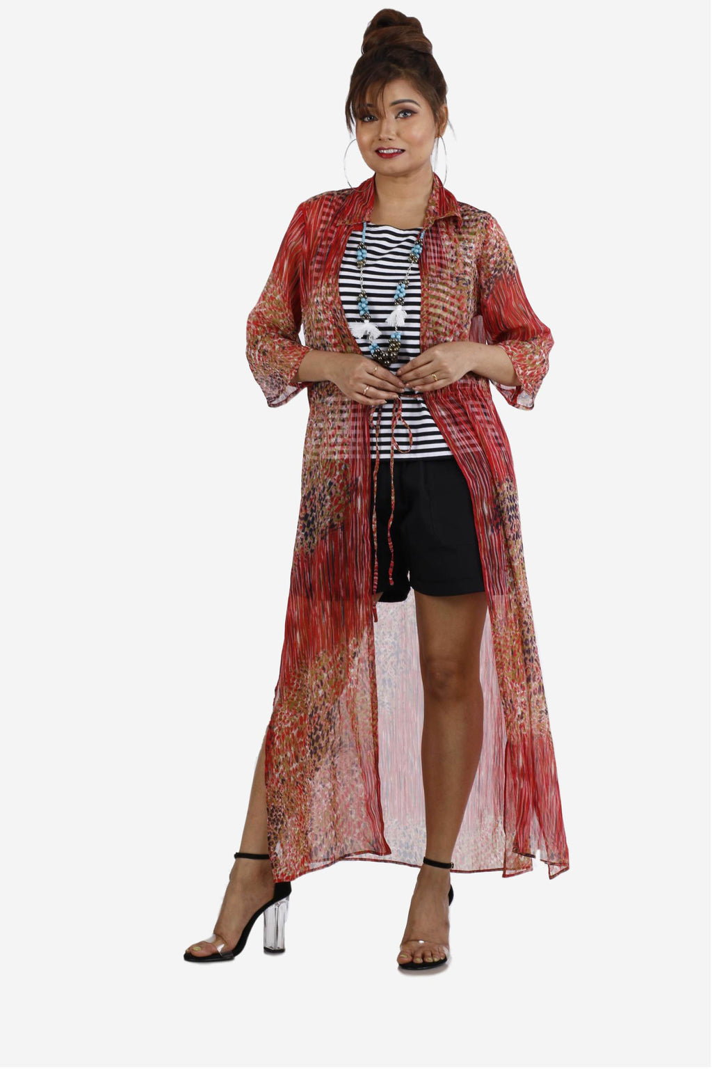 Womens Printed Shrug - K407