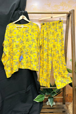 Women's Two - Mile Kaftan Co-Ord Set - Linda Yellow - K1931