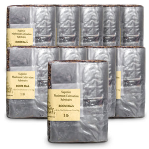 1lb BOOM! Mixed Substrate All in one Mushroom Grow Bags- Unique Nutrient Mix Substrate Mushroom Grow Bags | Super Easy to Use | High Success Rate | Versatile Use