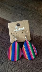 Serape Teardrop Earrings