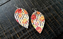 Load image into Gallery viewer, Teardrop Leather Earrings