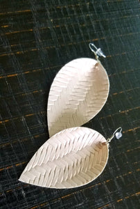 Metallic Teardrop Earrings