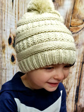 Load image into Gallery viewer, Kids Pom Pom Beanie