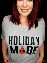 "Load image into Gallery viewer, ""Holiday Made"" Graphic Tee"