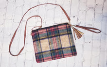 Load image into Gallery viewer, Plaid Crossbody/Wristlet