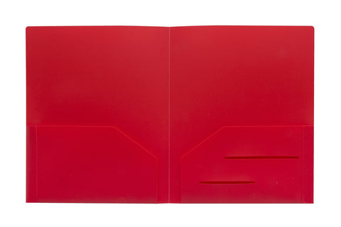 Red Heavy Duty Plastic Folder