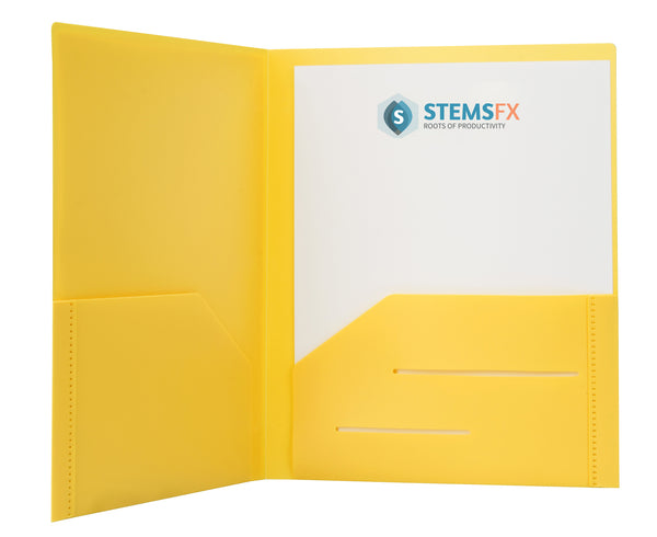 Yellow Heavy Duty Plastic Folder