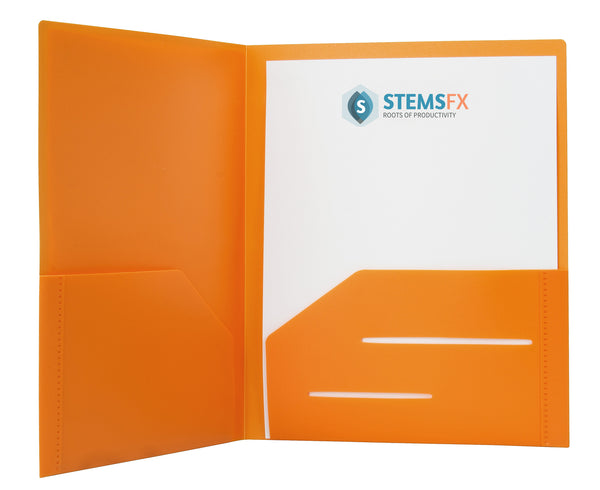 Orange Heavy Duty Plastic Folder