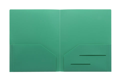 Green Heavy Duty Plastic Folder