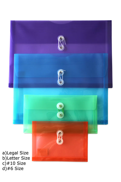String & Button Side Loading Poly Envelopes