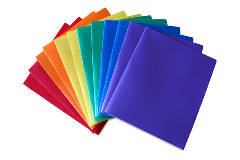Heavy Duty Plastic Folder Assorted Pack of 12