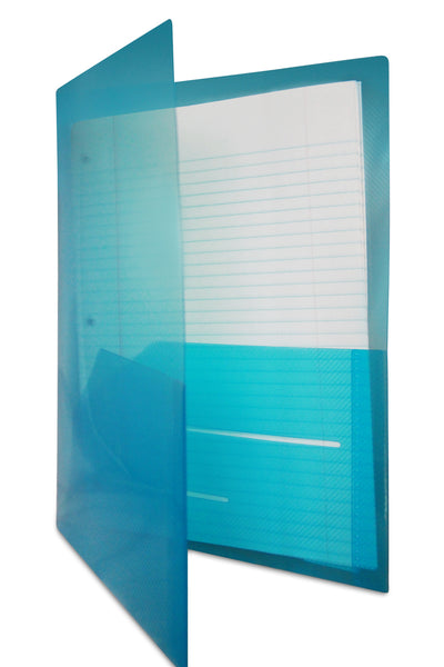 Glass Twill Plastic Folder (Individual Colors)